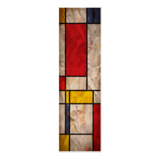 Mondrian Inspired Poster