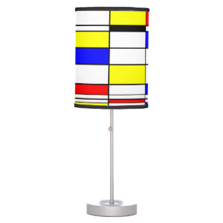 Mondrian lines art table lamp