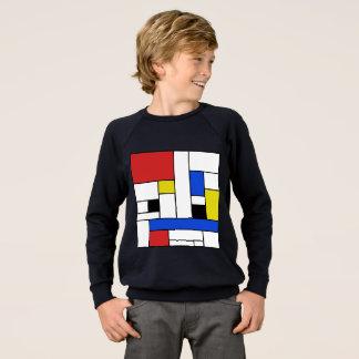 Mondrian Lines Kid's Raglan Sweatshirt
