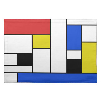 "Mondrian Lines Placemats  20"" x 14"""