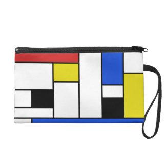 Mondrian Lines Wristlet