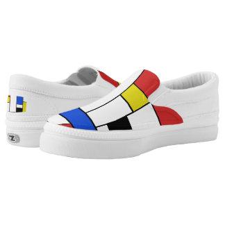 Mondrian Lines Zipz Slip On Shoes