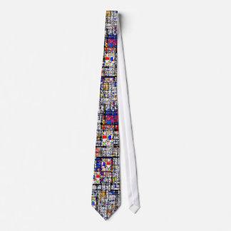 Mondrian Meets Grunge Tie
