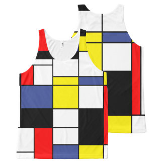Mondrian, minimalist All-Over-Print tank top