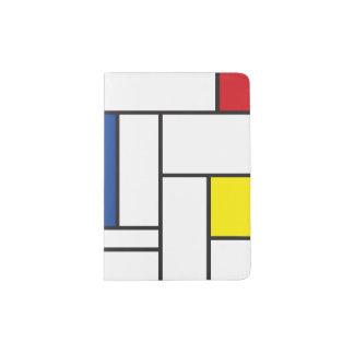 Mondrian Minimalist De Stijl Art Passport Cover