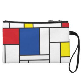 Mondrian Minimalist De Stijl Modern Art Clutch Wristlet