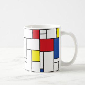 Mondrian Minimalist De Stijl Modern Art Mug