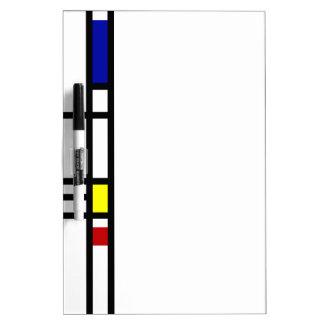 Mondrian Modern Art Dry Erase Board