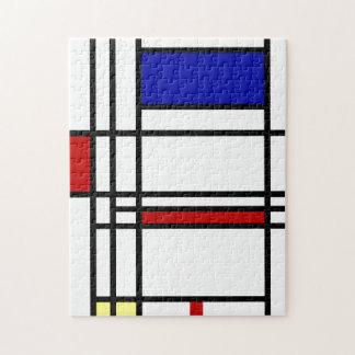 Mondrian Modern Art Jigsaw Puzzle
