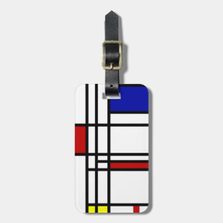 Mondrian Modern Art Luggage Tag
