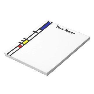 Mondrian Modern Art Notepad