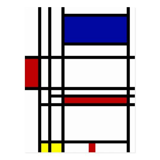 Mondrian Modern Art Postcard