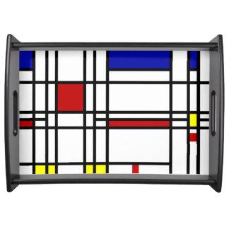 Mondrian Modern Art Serving Tray