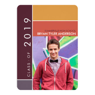 Mondrian Modern Graduation Grad Photo Announcement