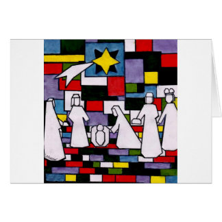 Mondrian Nativity - De Stijl - Neoplasticism Card