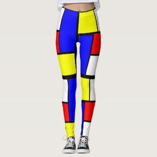 Mondrian Pattern Style Leggings