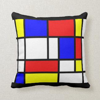 Mondrian - Primary Colors Pillow