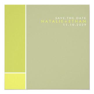 """Mondrian Retro Mod Art Colorful Save The Date 5.25"""" Square Invitation Card"""