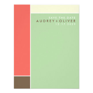 Mondrian Retro Mod Art Colorful Save The Date Custom Invites