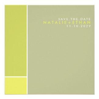 Mondrian Retro Mod Art Colourful Save The Date Announcement