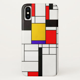 Mondrian Style Abstract Art iPhone X Case