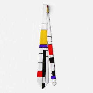 Mondrian Style Abstract Art Tie