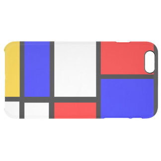 Mondrian style clear iPhone 6 plus case