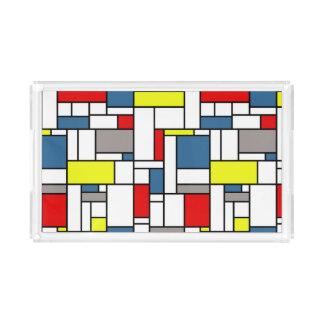 Mondrian style design acrylic tray