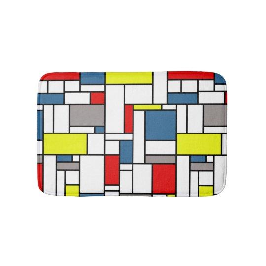Mondrian style design bath mat