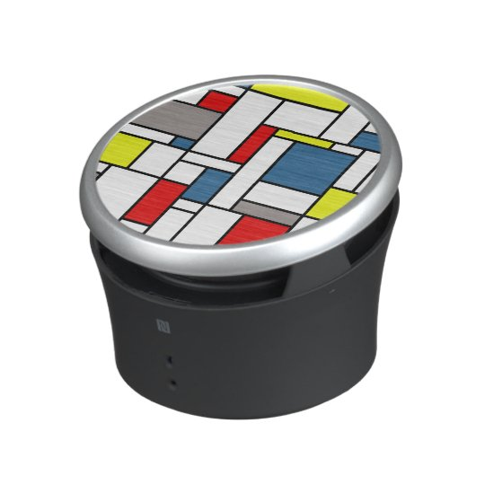 Mondrian style design bluetooth speaker
