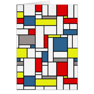 Mondrian style design card