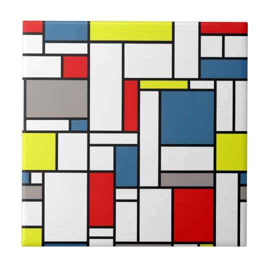 Mondrian style design ceramic tiles