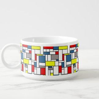 Mondrian style design chili bowl