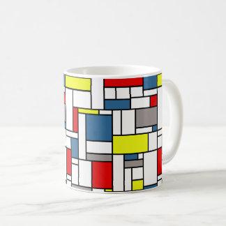Mondrian style design coffee mug