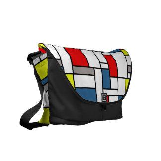 Mondrian style design commuter bags