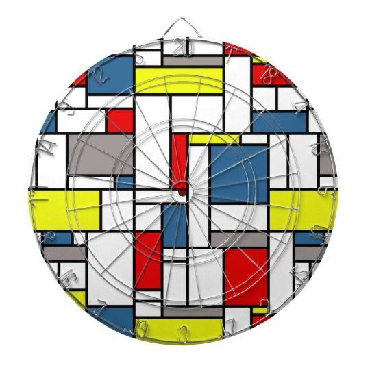 Mondrian style design dartboards