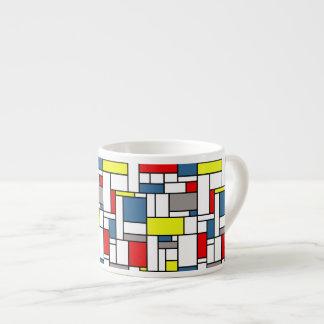 Mondrian style design espresso cup
