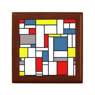 Mondrian style design gift box