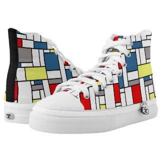 Mondrian style design high tops