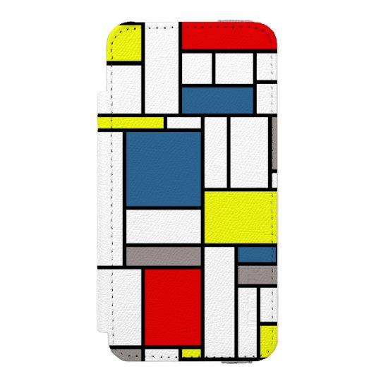 Mondrian style design incipio watson™ iPhone 5 wallet case