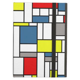 Mondrian style design iPad air covers