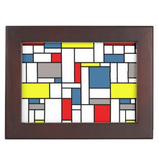 Mondrian style design keepsake box