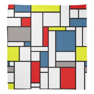 Mondrian style design kerchief