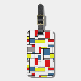 Mondrian style design luggage tag