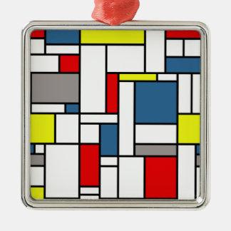 Mondrian style design metal ornament