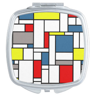Mondrian style design mirror for makeup