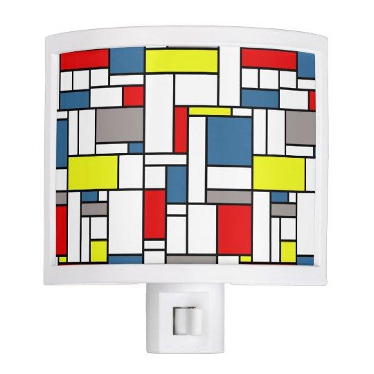 Mondrian style design nite lites