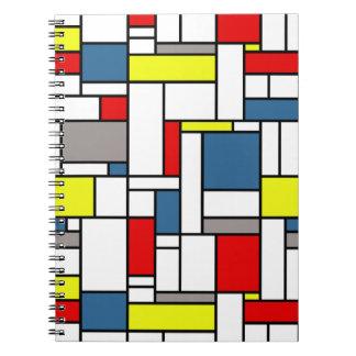 Mondrian style design notebook
