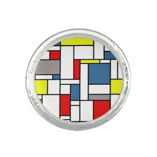 Mondrian style design photo rings