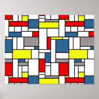 Mondrian style design poster
